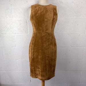 Calvin Klein Faux Suede Sheath Nut Dress Size 4